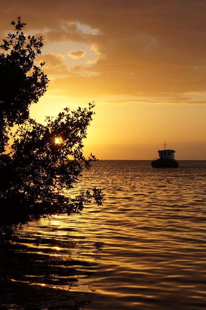 coucher de soleil sur les Caraibes